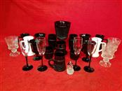 Lot of Tiara Glassware - Black / White / Clear - Collectible Glassware